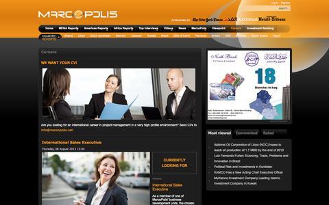 Screenshot of Jobs Page marcopolis.net - Careers - captured Sept. 26, 2014
