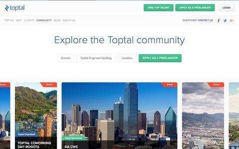 Explore the Toptal community | Toptal