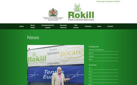 Screenshot of Press Page rokill.co.uk - Pest Controllers News | Bournemouth | London | Southampton - captured Oct. 23, 2017