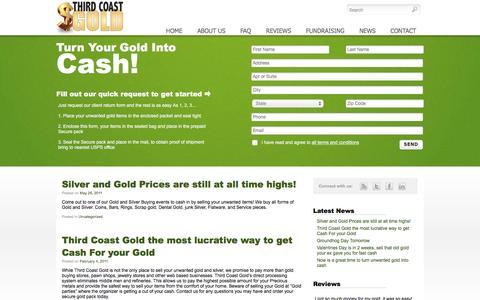 Screenshot of Press Page thirdcoastgold.com - News   Third Coast Gold   Turn your old gold into cash! - captured Dec. 23, 2016