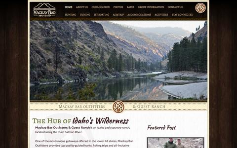 Screenshot of Home Page mackaybarranch.com - Mackay Bar Outfitters & Guest Ranch | Main Salmon River | Frank Church Wilderness - captured Oct. 4, 2014