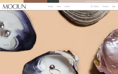 Screenshot of Home Page mociun.com - MOCIUN Jewelry + Home Goods - captured July 25, 2018