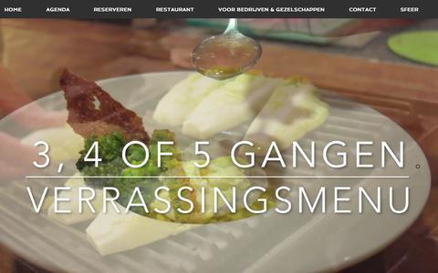 Screenshot of Menu Page kokenaandemarkt.nl - Restaurant Koken aan de Markt - captured June 9, 2017