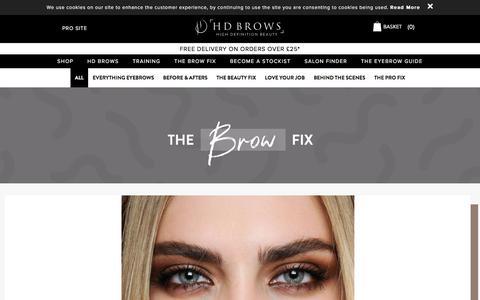 Screenshot of Blog hdbrows.com - Beauty, Brows, Professional & More | HD Brows Blog - captured July 13, 2019