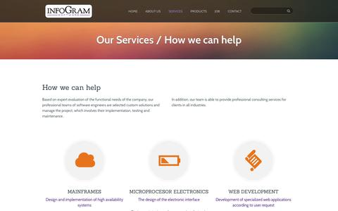 Screenshot of Services Page infogram.rs - Categories Services | Infogram Software - captured Nov. 26, 2016