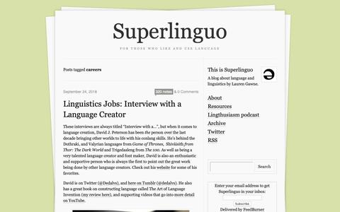 Screenshot of Jobs Page superlinguo.com - Superlinguo - captured Oct. 25, 2018