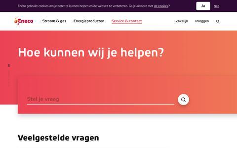 Screenshot of Contact Page eneco.nl - Klantenservice en contact - Eneco - captured Jan. 18, 2018