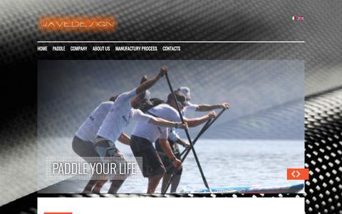 Screenshot of Home Page wavedesign.com - Home - captured Oct. 7, 2014