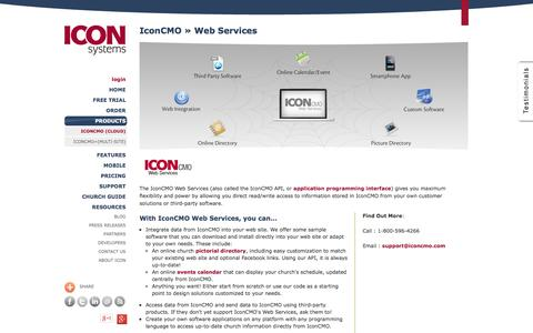 Screenshot of Developers Page iconcmo.com - Church Management Software Integrates with your Church Website - captured Oct. 10, 2014