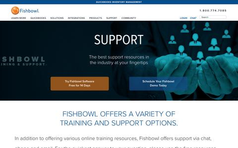 Screenshot of Support Page fishbowlinventory.com - Support | Fishbowl Inventory - captured Feb. 10, 2016