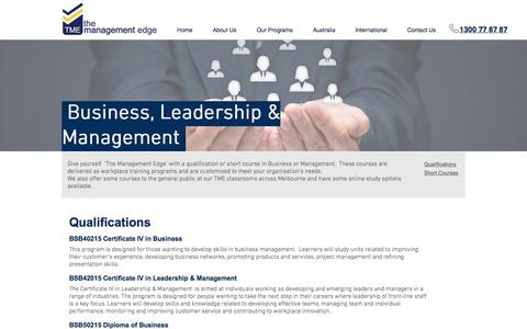 Screenshot of Team Page tme.edu.au - Business & management courses - captured Oct. 26, 2017