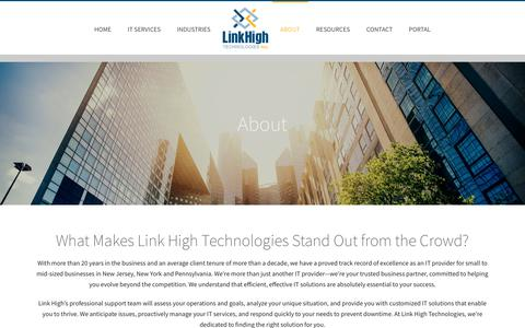 Screenshot of About Page linkhigh.com - About Link High Technologies - captured Oct. 6, 2017