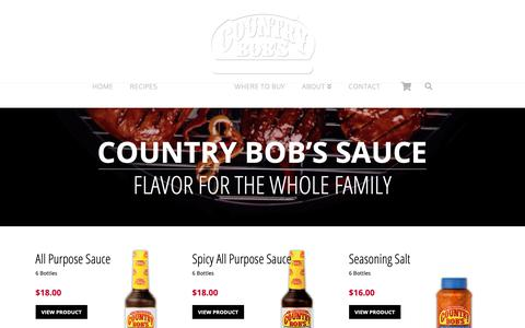 Screenshot of Products Page countrybobs.com - All Products | Country Bob's Sauces and Seasonings - captured Sept. 29, 2018