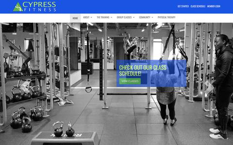 Screenshot of Home Page cypressfit.com - Home | Cypress Fitness - captured July 5, 2017