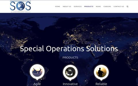 Screenshot of Products Page specopsolutions.com - SOS   –  Products - captured Oct. 18, 2018