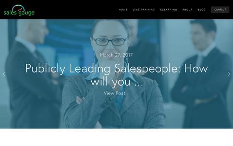 Screenshot of Blog sales-gauge.com - Sales Gauge Blog — Sales Gauge Sales Training - captured May 27, 2017