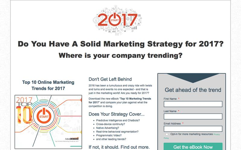 2017 Trends - Landing Page
