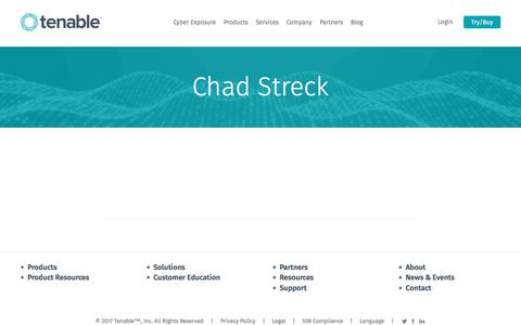 Chad Streck | Tenable™