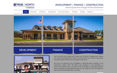 Screenshot of Home Page true-north-companies.com - True North Companies - captured Feb. 25, 2016