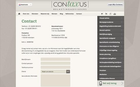 Screenshot of Contact Page Maps & Directions Page contaxus.com - Contact - captured Oct. 22, 2014