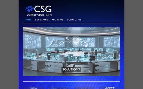Screenshot of Home Page confluencesg.com - CONFLUENCE SECURITY GROUP - captured Nov. 10, 2016