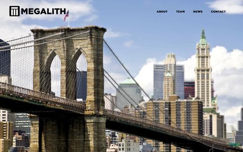 Screenshot of Home Page megalithcapital.com - Home - captured Jan. 25, 2015