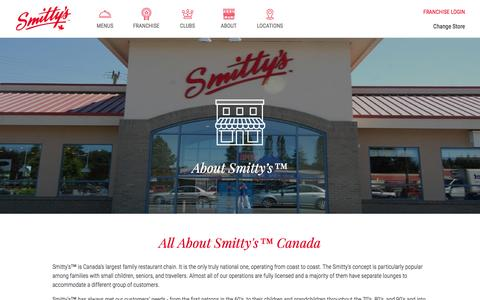 Screenshot of About Page smittys.ca - About - captured Dec. 9, 2016