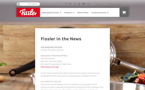 Screenshot of Press Page fisslerusa.com - Press - captured March 31, 2017