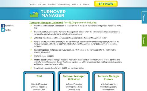 Screenshot of Pricing Page turnovermanager.com - Turnover Manager - property management inspection tool - captured Sept. 30, 2014