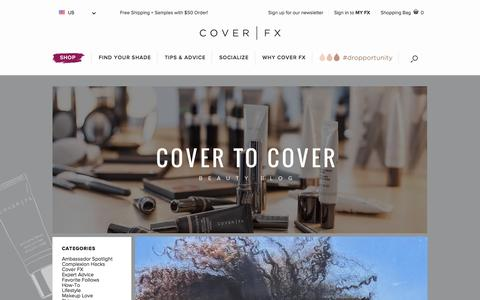 Screenshot of Blog coverfx.com captured Feb. 1, 2016