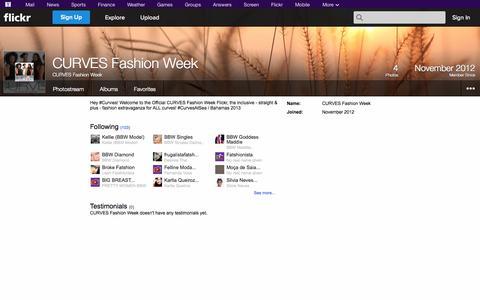 Screenshot of Flickr Page flickr.com - Flickr: CURVES Fashion Week - captured Oct. 22, 2014
