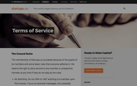 Terms of Service | Startups.co