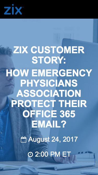 Webinar | Zix Customer Story O365