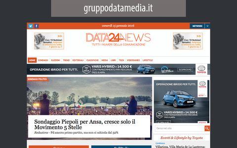 Screenshot of Home Page data24news.it - Data 24 News | Tutti i numeri della comunicazione - captured Jan. 14, 2016