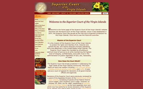 Screenshot of Home Page visuperiorcourt.org - Welcome to the V.I. Superior Court Online - captured Oct. 25, 2017