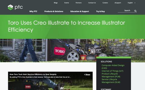 Screenshot of Case Studies Page ptc.com - Toro Uses Creo Illustrate to Increase Illustrator Efficiency [Case Study] | PTC - captured Nov. 13, 2018