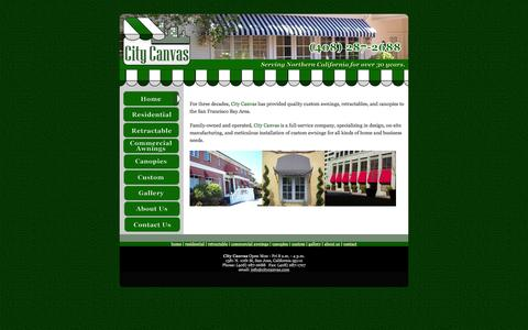Screenshot of Home Page citycanvas.com - Welcome To City Canvas (408) 287-2688 - captured Jan. 28, 2016
