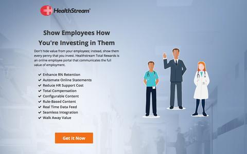 Screenshot of Landing Page healthstream.com - Total Rewards - captured June 17, 2017