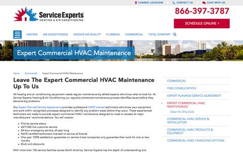 Expert Commercial HVAC Maintenance in your city | Service Experts