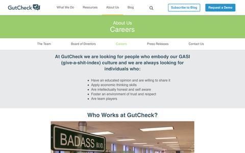 GutCheck | Careers