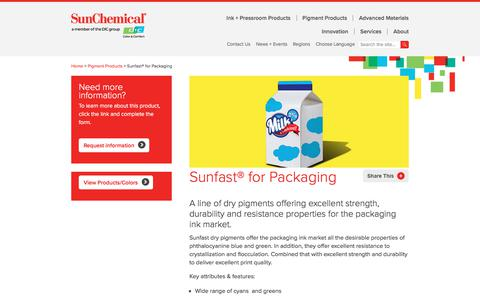 Sunfast® for Packaging