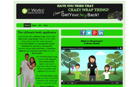 Screenshot of Home Page mybodywrapsglobal.com - It Works Global | that crazy wrap thing | skinny wrap - captured Oct. 5, 2014