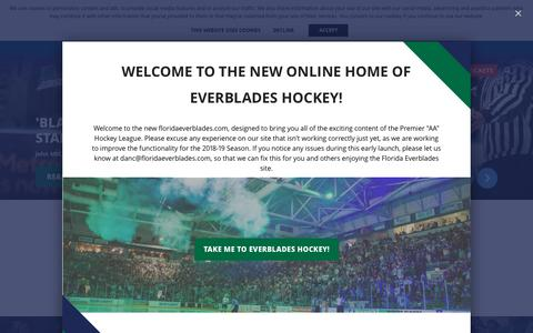 Screenshot of About Page Privacy Page Contact Page floridaeverblades.com - Homepage - captured Nov. 6, 2018
