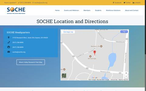 Screenshot of Maps & Directions Page soche.org - Directions – SOCHE - captured Oct. 23, 2017