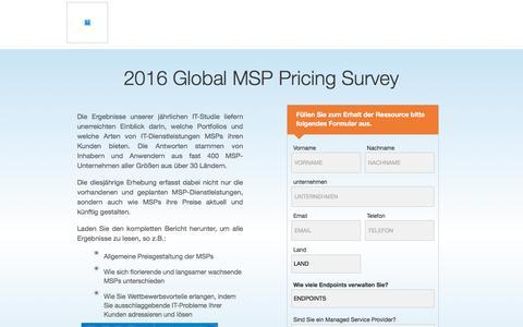Screenshot of Landing Page kaseya.com - 2016 Global MSP Pricing Survey   Kaseya - captured Sept. 19, 2018