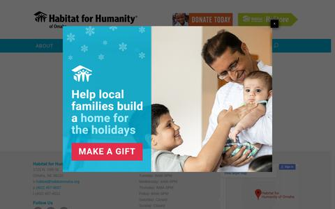 Screenshot of Privacy Page habitatomaha.org - Privacy Policy | Habitat for Humanity of Omaha - captured Dec. 13, 2018