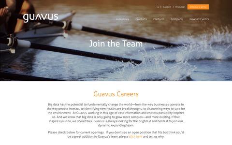 Screenshot of Jobs Page guavus.com - Careers - Guavus - captured Oct. 1, 2015