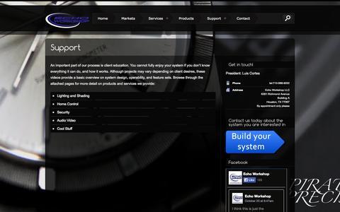 Screenshot of Support Page echoworkshop.com - Support   Echo Workshop - captured Oct. 22, 2014