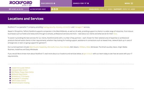 Screenshot of Locations Page rockford-it.co.uk - Locations and Services - Rockford IT - captured Aug. 18, 2016