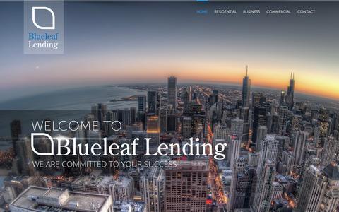 Screenshot of Home Page blueleaflending.com - Blueleaf Lending - captured Jan. 6, 2016